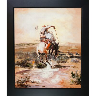 Tori Home A Slick Rider Russell Framed Original Painting