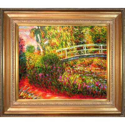 Tori Home The Japanese Bridge Monet Framed Original Painting