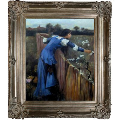 Tori Home The Flower Picker Waterhouse Framed Original Painting