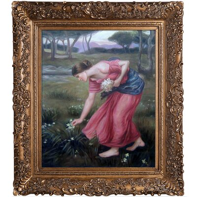 Tori Home Narcissus Waterhouse Framed Original Painting