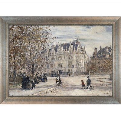 The Fletcher Mansion, New York City Raffaelli Framed Original Painting