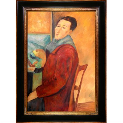 Tori Home Modigliani, Self-Portrait Modigliani Framed Original Painting