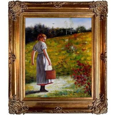 Tori Home Returning From The Spring Homer Framed Original Painting