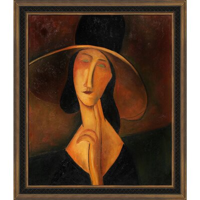 Tori Home Portrait of Woman in Hat (Jeanne Hebuterne in Large Hat), 1917 Canvas Art ...