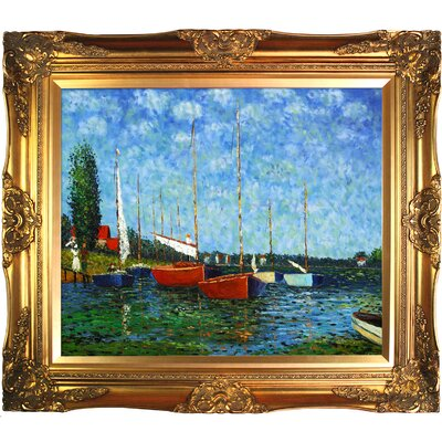 Tori Home Red Boats at Argenteuil Canvas Art