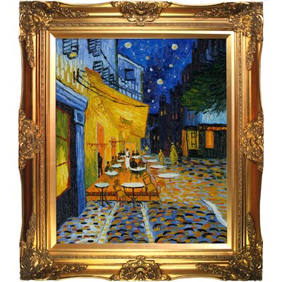 Tori Home Cafe Terrace at Night Canvas Art