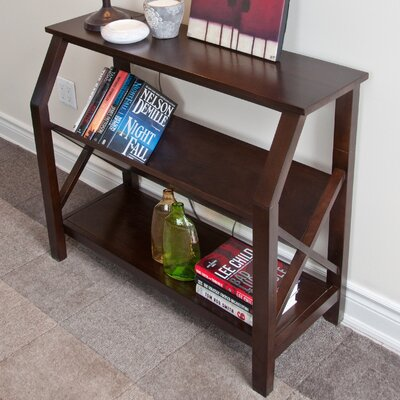 Simpli Home Acadian Cross Hatch Book Shelf