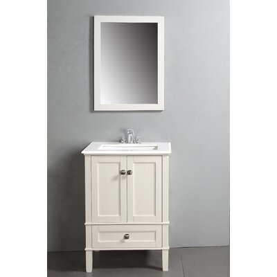 Awesome Small White Bathroom Vanity With Marble Top And Sink 24 Inches Wide