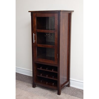 Simpli Home Avalon 12 Bottle Wine Cabinet