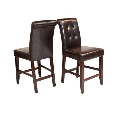 Simpli Home Cosmopolitan Deluxe Tufted Bar Stool (Set of 2)