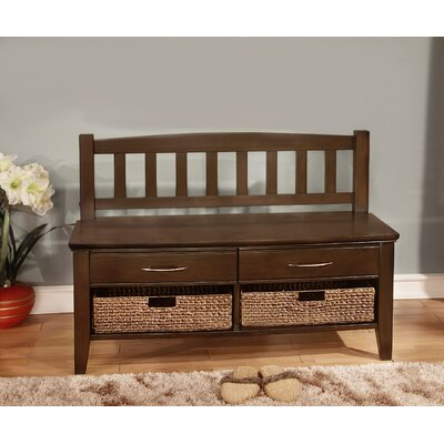 Simpli Home Williamsburg Wood Storage Entryway Bench With