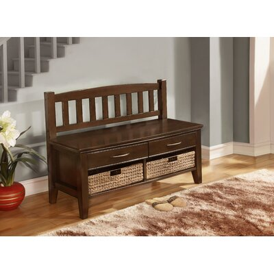 Simpli Home Williamsburg Wood Storage Entryway Bench with Drawers