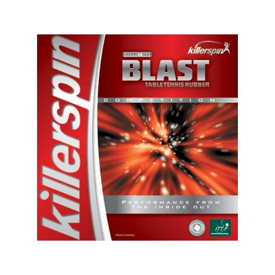 "Killerspin Blast 0.08"" Table Tennis Rubber in Black"