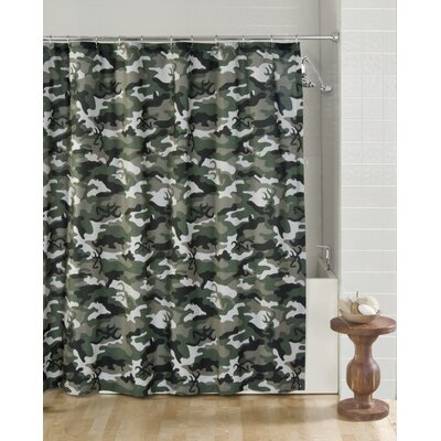 Browning Buckmark Camo Cotton Blend Shower Curtain