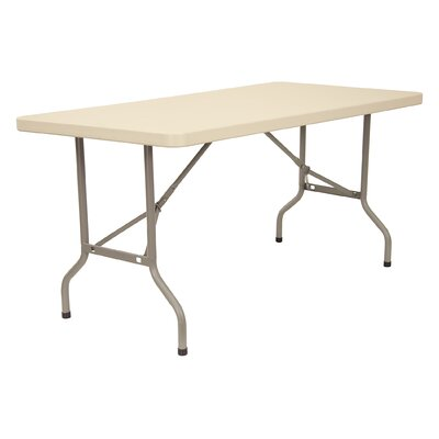 "KFI Seating 72"" x 30"" Blow-Molded Folding Table"