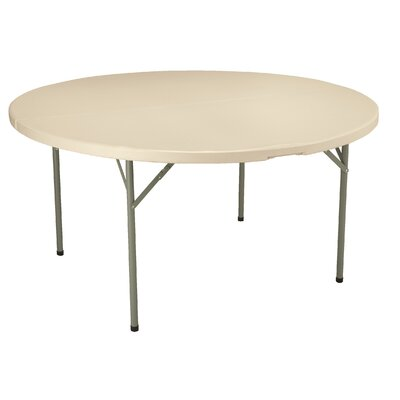 "KFI Seating 60"" Round Blow-Molded Folding Table"