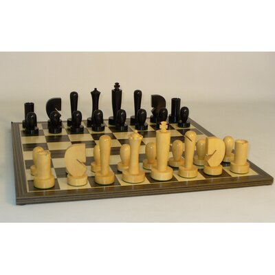 Black Berliner on Ebony Veneer Chess Board