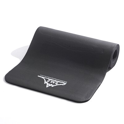 "Black Mountain Products 0.5"" Yoga Mat with Carrying Strap"