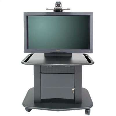 "Avteq Plana Series 32"" Tall Metal Plasma Cart - Holds a 42"" Screen"