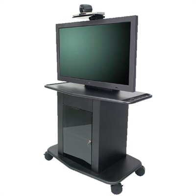 "Avteq Plana Series 42"" Tall Metal Plasma Cart - Holds a 42"" to 50"" Screen"