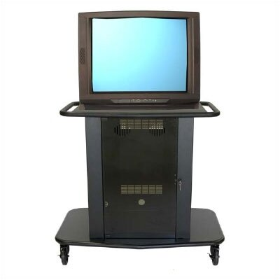 "Avteq Sabio Series 42"" Tall Metal Cart - Holds up to one 36"" monitor"