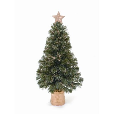 LB International Topiary Lamppost 4' Green Artificial Christmas Tree with 35 Clear Lights