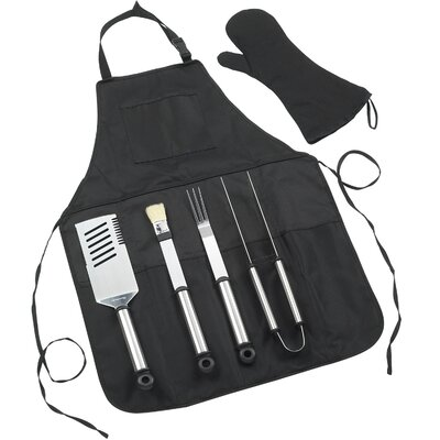 B.B.Q-Chef's Barbeque Apron and Tools