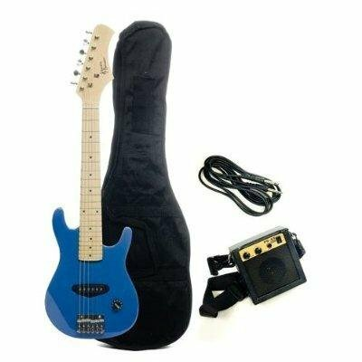 Kids Electric Guitar in Metallic Blue