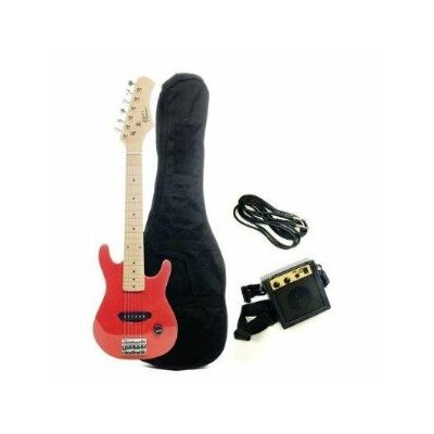 Stedman Pro Kids Electric Guitar in Metallic Red
