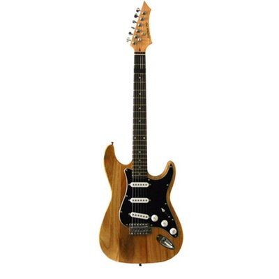 Electric Guitar with Gig Bag and Cable in Natural