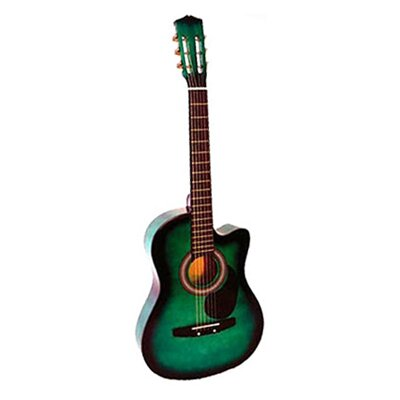 Stedman Pro Acoustic Cutaway Guitar with Gig Bag and Accessories in Green