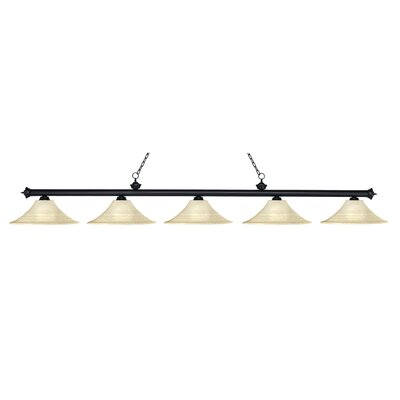 Z-Lite Riviera 5 Light Billiard Pendant