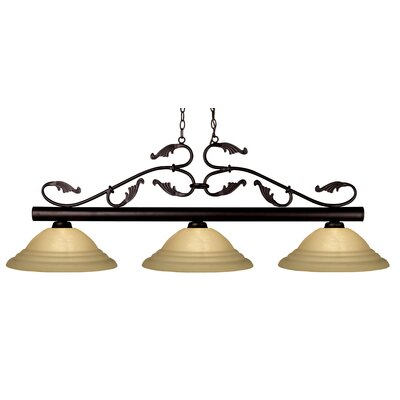 Bourbon 3 Light Kitchen Island Pendant