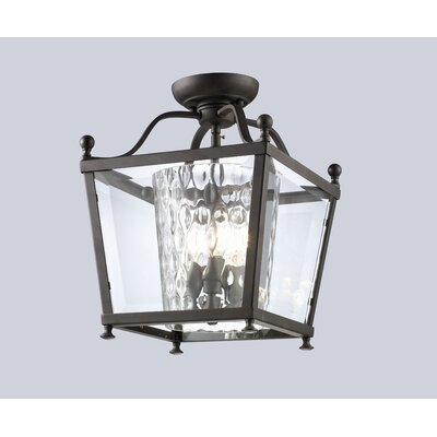 Z-Lite Ashbury 3 Light 60W Semi Flush Mount