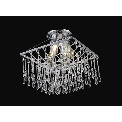 Palomar 4 Light Crystal Chandelier in Chrome
