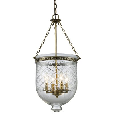Z-Lite Tudor 4 Light Foyer Pendant