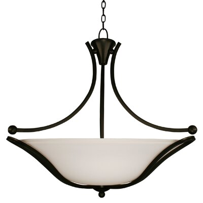 Carlisle 3 Light Bowl Inverted Pendant