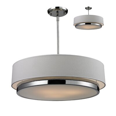 Z-Lite Jade 3 Light Drum Pendant