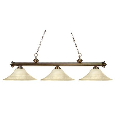 Riviera 3 Light Billiard Pendant