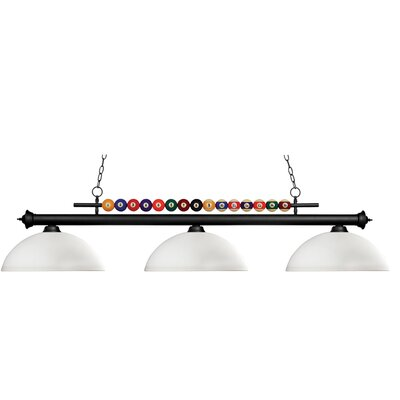Z-Lite Shark 3 Light Billiard Pendant