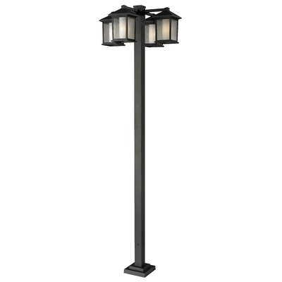 "Z-Lite Mesa 4 Light 99"" Outdoor Post Lantern Set"
