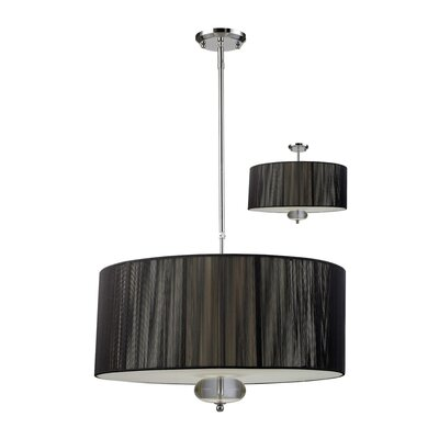 Z-Lite Soho 3 Light Drum Foyer Pendant