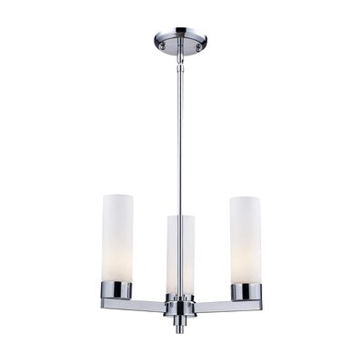 Ibis 3 or 5 Light Chandelier in Chrome