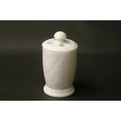 Tooth Brush Holder in White Marble