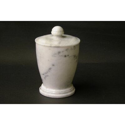 Nature Home Decor Canister in White Marble