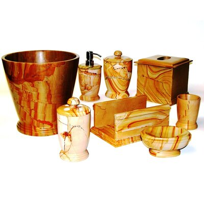 Nature Home Decor Series 300 8 Piece Set in Teakwood Marble