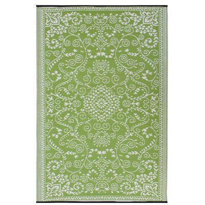 World Murano Lime Green/Cream Rug