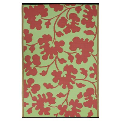 Fab Rugs World Oslo Scarlet Red/Moss Green Rug