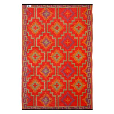 World Lhasa Orange/Violet Rug