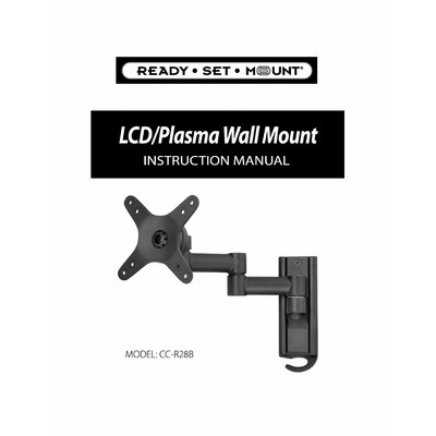 "Ready Set Mount Swivel LCD Wall Mount for 13"" to 37"" Screens in Hi-Gloss Black"